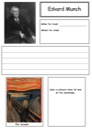 Homeschool Helper Online's Free Edvard Munch Notebooking