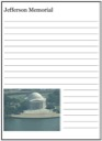 Homeschool Helper Online's Jefferson Memorial Notebooking