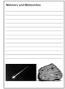 Homeschool Helper Online's Free Meteor & Meteorite Notebooking
