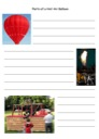 Homeschool Helper Online's Free Parts of a Hot Air Balloon Notebooking