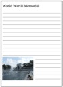 Homeschool Helper Online's World War II Memorial Notebooking
