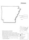 Homeschool Helper Online's Free Arkansas Geography Worksheet