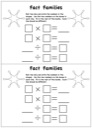 Homeschool Helper Online's Fact Families - Multiplication / Division Worksheet