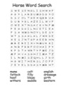 Homeschool Helper Online's Free Horse Word Search Worksheet Worksheet