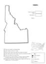 Homeschool Helper Online's Free Idaho Geography Worksheet