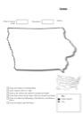 Homeschool Helper Online's Free Iowa Geography Worksheet