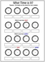Homeschool Helper Online's What Time is It? Worksheet